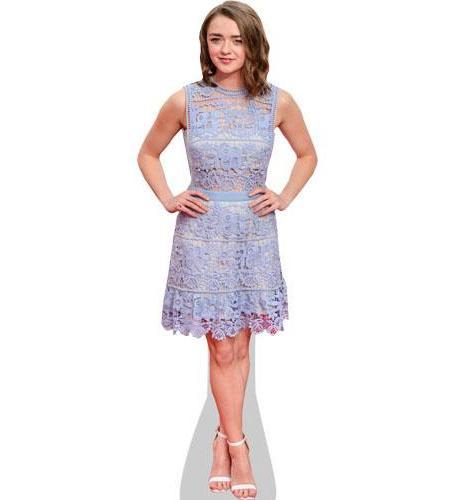 A Lifesize Cardboard Cutout of Maisie Williams wearing a dress