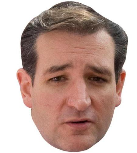 A Cardboard Celebrity Big Head of Ted Cruz
