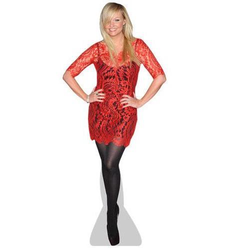 A Lifesize Cardboard Cutout of Emma Bunton wearing a red dress