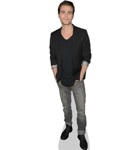 A Lifesize Cardboard Cutout of Paul Wesley wearing jeans