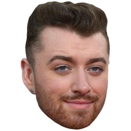 A Cardboard Celebrity Big Head of Sam Smith
