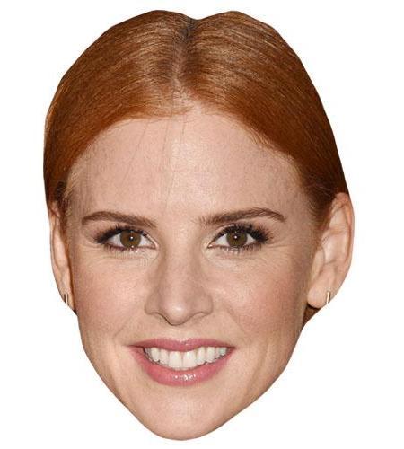 A Cardboard Celebrity Big Head of Sarah Rafferty