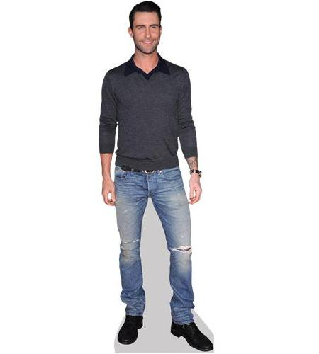 A Lifesize Cardboard Cutout of Adam Levine wearing a jumper