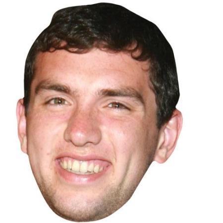 A Cardboard Celebrity Big Head of Andrew Luck