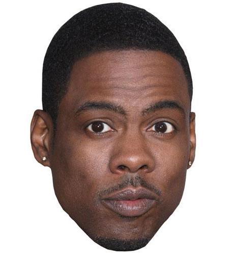 A Cardboard Celebrity Big Head of Chris Rock