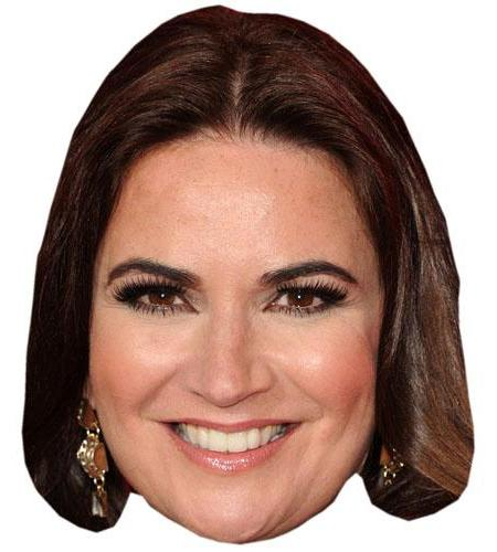 A Cardboard Celebrity Mask of Debbie Rush