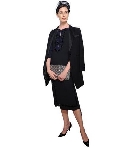 A Lifesize Cardboard Cutout of Erin O'Connor wearing a black dress
