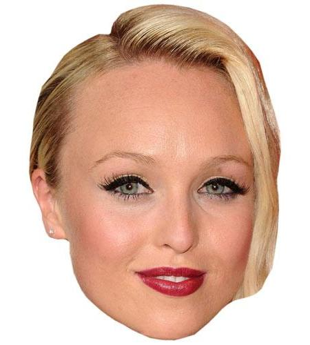 A Cardboard Celebrity Big Head of Jorgie Porter