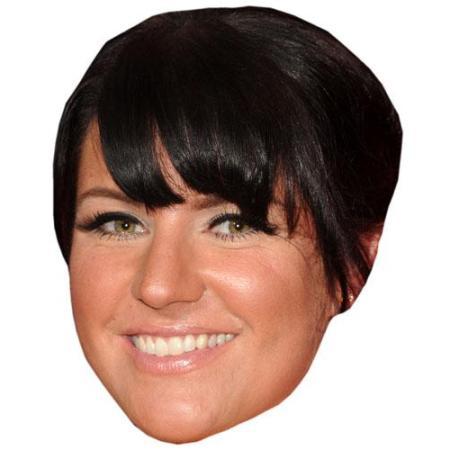 A Cardboard Celebrity Big Head of Laura Norton