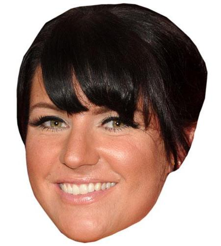 A Cardboard Celebrity Big Head of Laura Norton