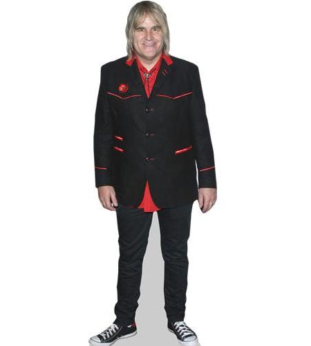 A Lifesize Cardboard Cutout of Mike Peters wearing a suit