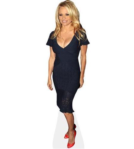 A Lifesize Cardboard Cutout of Pamela Anderson wearing a dress