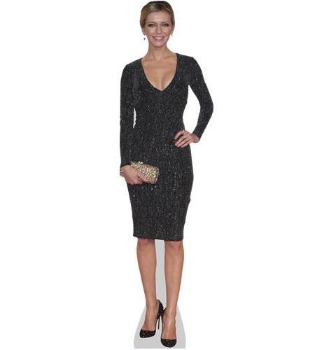 A Lifesize Cardboard Cutout of Rachel Riley wearing a dress