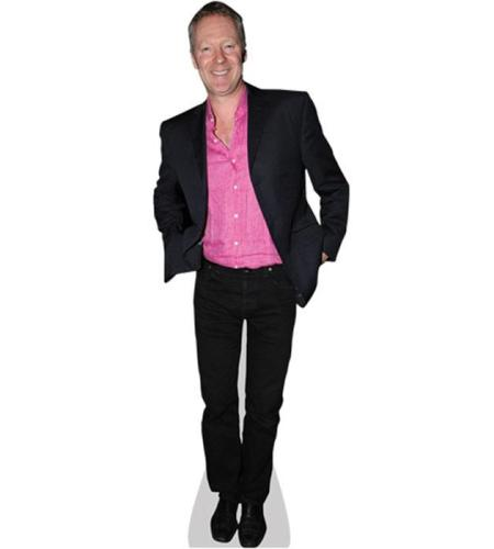 A Lifesize Cardboard Cutout of Rory Bremner wearing a pink shirt