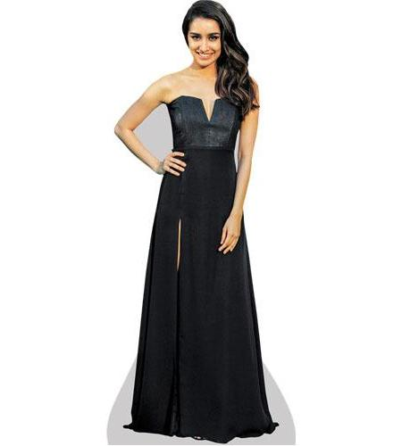 A Lifesize Cardboard Cutout of Shraddha Kapoor wearing a black gown