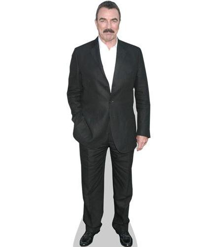 A Lifesize Cardboard Cutout of Tom Selleck wearing a suit