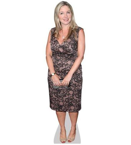 A Lifesize Cardboard Cutout of Victoria Coren Mitchell wearing a dress