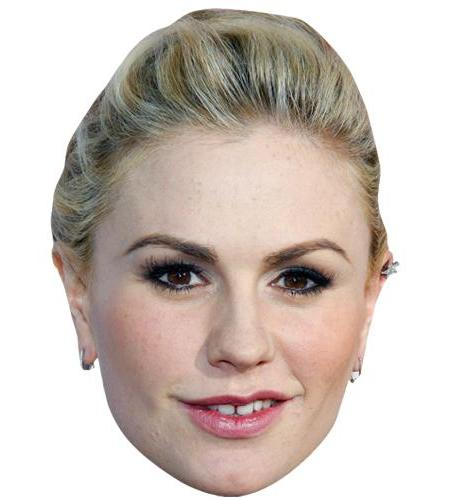A Cardboard Celebrity Big Head of Anna Paquin