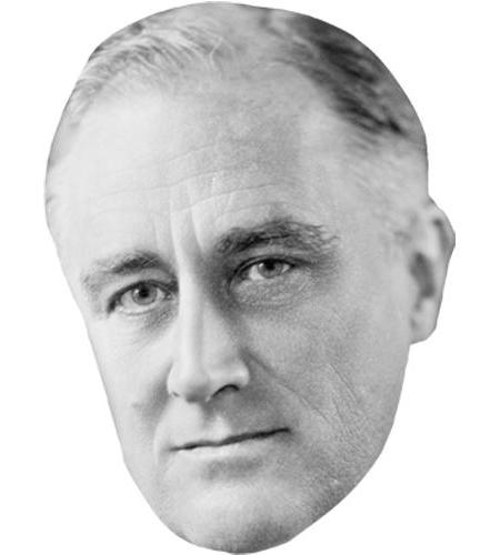 A Cardboard Celebrity Big Head of Franklin D. Roosevelt