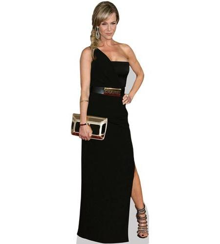 A Lifesize Cardboard Cutout of Julie Benz wearing a black gown