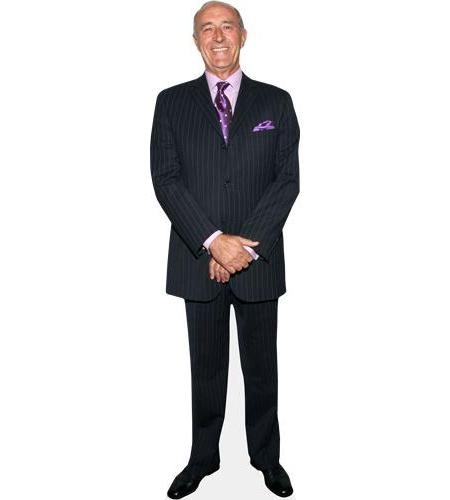 A Lifesize Cardboard Cutout of Len Goodman wearing a suit