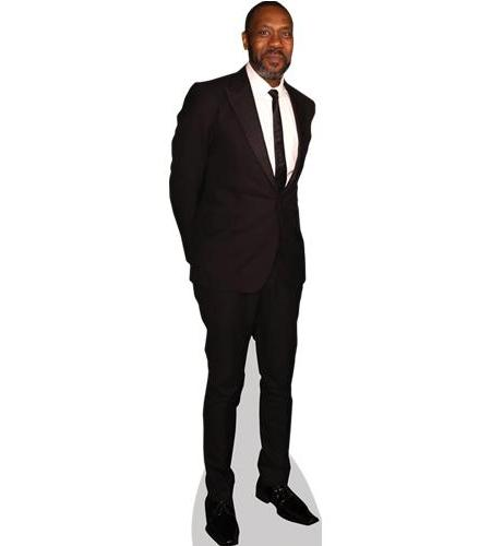 A Lifesize Cardboard Cutout of Lenny Henry wearing a suit