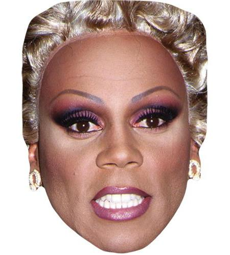 A Cardboard Celebrity Mask of RuPaul (Drag)