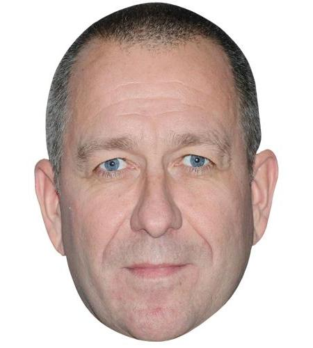 A Cardboard Celebrity Big Head of Sean Pertwee