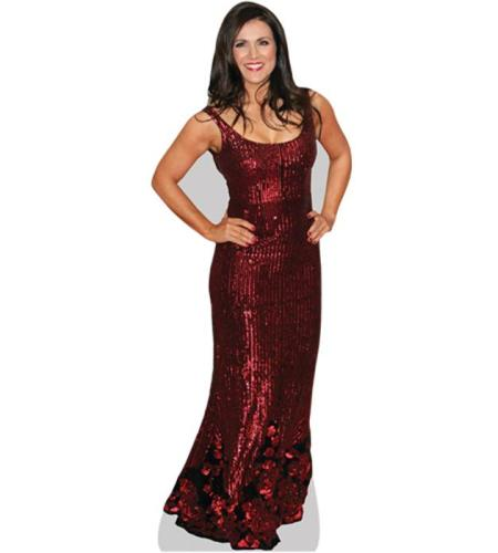A Lifesize Cardboard Cutout of Susanna Reid wearing a red dress