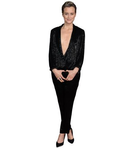 A Lifesize Cardboard Cutout of Taylor Schilling wearing a trouser suit