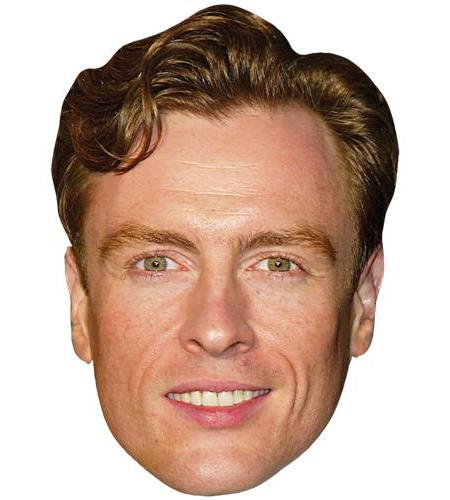 A Cardboard Celebrity Mask of Toby Stephens