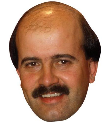 A Cardboard Celebrity Big Head of Willie Thorne