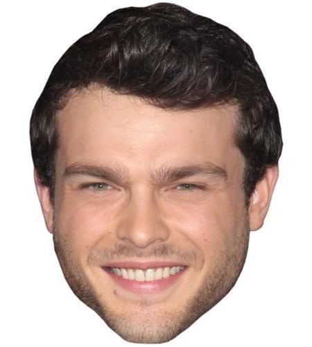 A Cardboard Celebrity Big Head of Alden Ehrenreich
