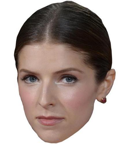 A Cardboard Celebrity Big Head of Anna Kendrick