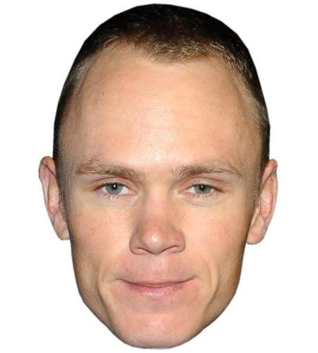 A Cardboard Celebrity Big Head of Chris Froome