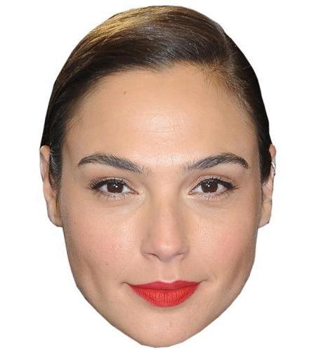 A Cardboard Celebrity Big Head of Gal Gadot
