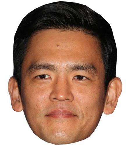 A Cardboard Celebrity Big Head of John Cho