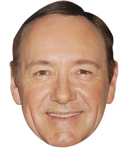 A Cardboard Celebrity Big Head of Kevin Spacey