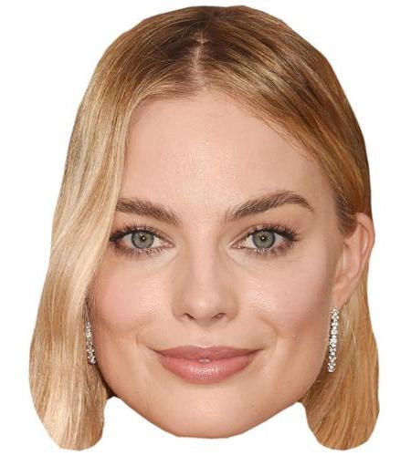 A Cardboard Celebrity Big Head of Margot Robbie