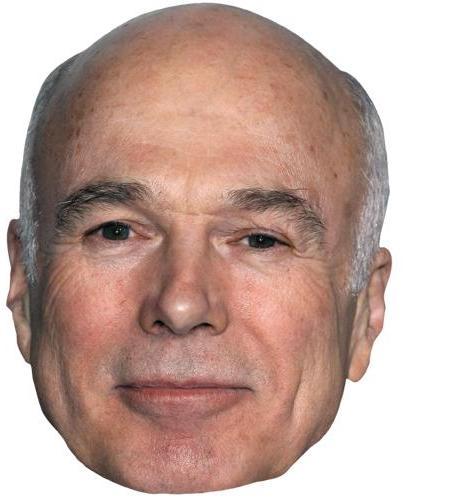 A Cardboard Celebrity Mask of Michael Hogan