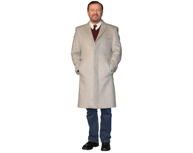 Standee. Ricky Gervais Cardboard Cutout mini size