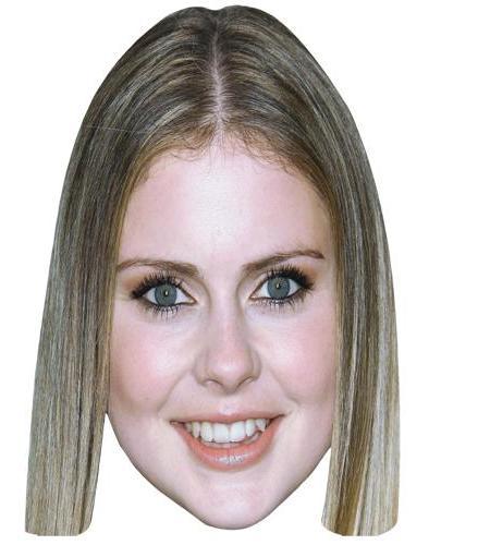 A Cardboard Celebrity Big Head of Rose McIver