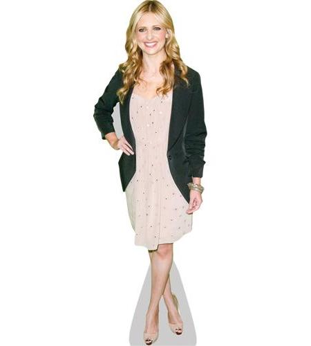 A Lifesize Cardboard Cutout of Sarah Michelle Geller wearing a jacket