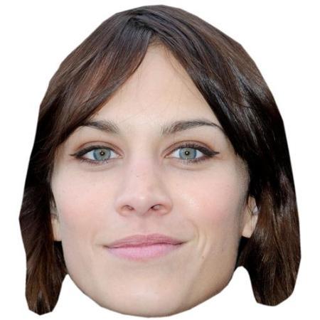 A Cardboard Celebrity Big Head of Alexa Chung