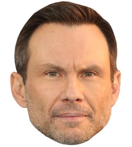 A Cardboard Celebrity Big Head of Christian Slater