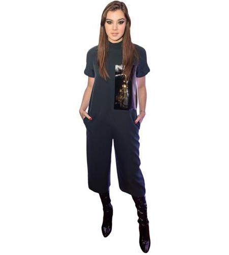 A Lifesize Cardboard Cutout of Hailee Steinfeld wearing trousers