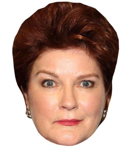 A Cardboard Celebrity Mask of Kate Mulgrew