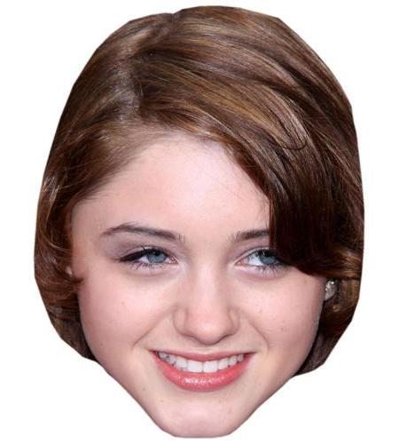A Cardboard Celebrity Big Head of Natalia Dyer