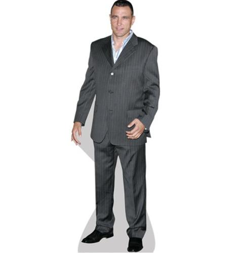 A Lifesize Cardboard Cutout of Vinnie Jones wearing a suit