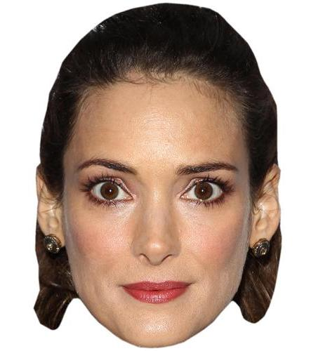 A Cardboard Celebrity Mask of Winona Ryder